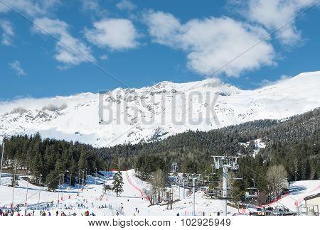 Panorama Of Ski Resort Arkhyz