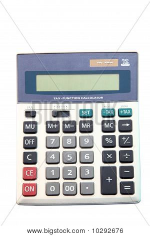 Calculator In Gray Tones For Tax