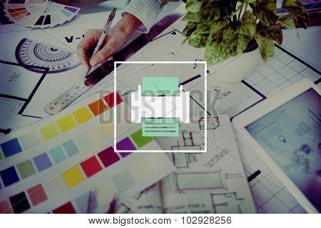 Printer Icon Computer Page Digital Paper Concept