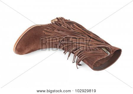 Womens boot isolated on white background