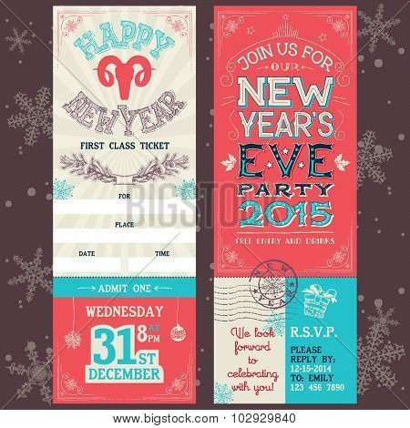 New Year's Eve Party Invitation Ticket