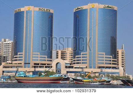 The Twin Towers of Dubai Creek in Dubai, UAE