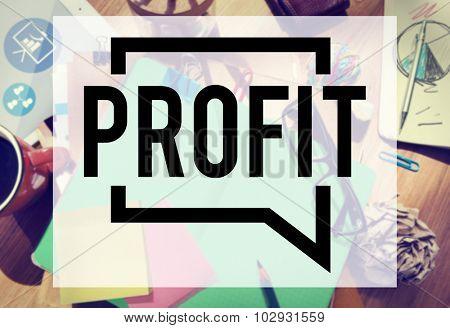 Profit Revenue Budget Finance Income Sales Money Concept