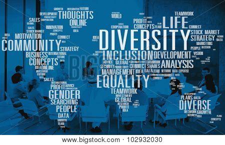 Diverse Equality Gender Innovation Management Concept