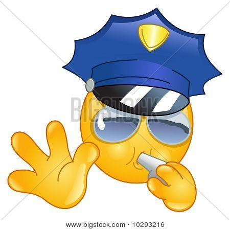 Polizist Emoticon