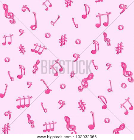 illustration of music notes musical background