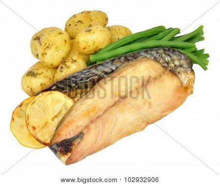 Grilled Mackerel And Potato Meal
