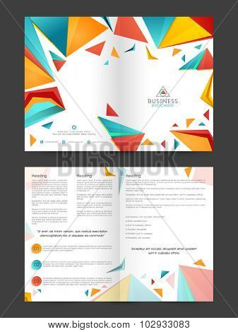 Creative professional Business Brochure, Flyer or Template presentation with colorful abstract design.