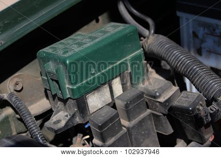 The Fuse Box Under The Hood In The Car