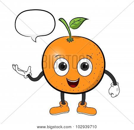 Orange Cartoon With Text