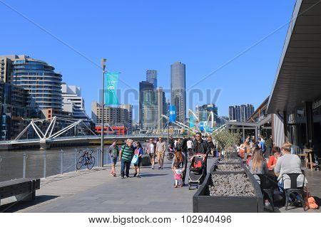 Melbourne waterfront cityscape Australia