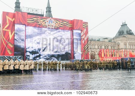 Parade on Red Square in Moscow