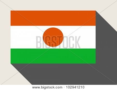 Niger flag in flat web design style.