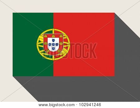Portugal flag in flat web design style.