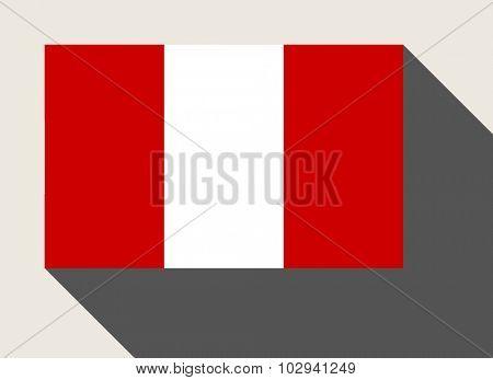 Peru flag in flat web design style.