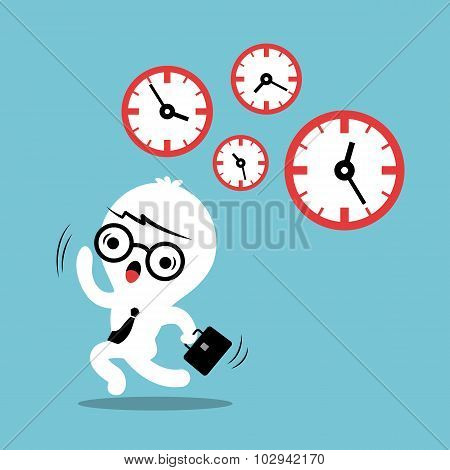 Busy Concept Running Out Of Time Business Cartoon