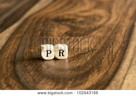 Word Pr On Wooden Cubes