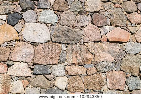 Surface Of A Stone Wall, Colorful Boulders Background