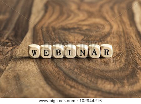Word Webinar On Wooden Cubes