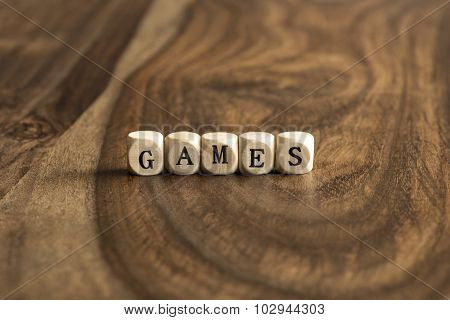 Word Game On Wooden Cubes