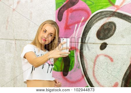 Girl Making A Selfie