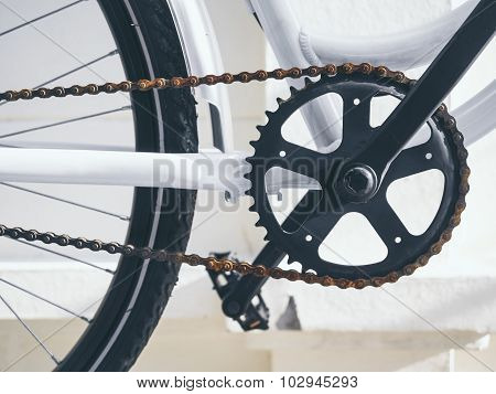 Bicycle Parts Crank And Chain Set With Pedal