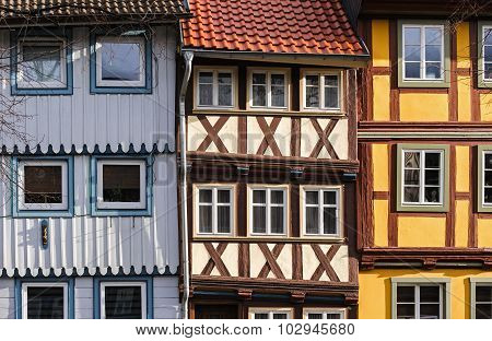 Houses In The Town Of Wernigerode, Germany