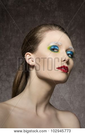 Female With Strange Artistic Make-up