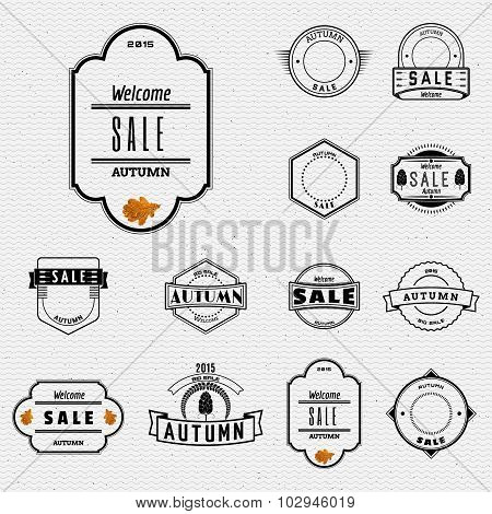 Autumn sale badges logos and labels for any use