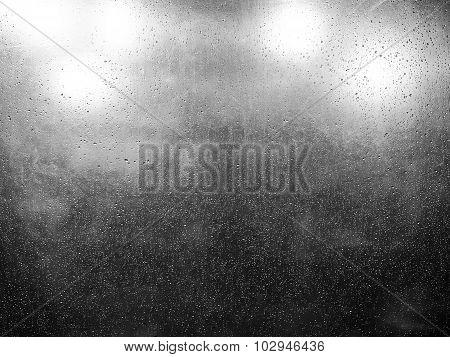 Raindrop On Clear Plastic Sheet