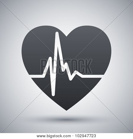 Vector Heart Cardiogram Icon