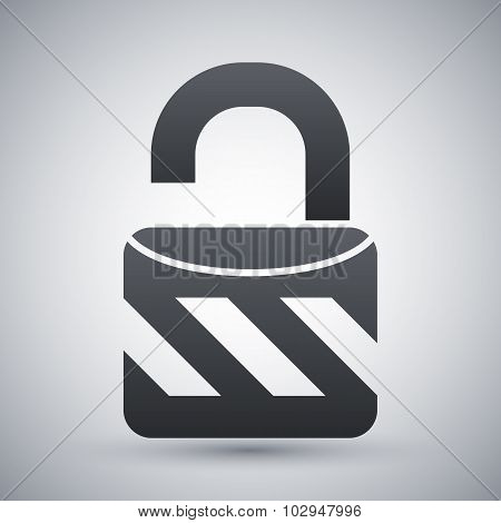 Vector Open Padlock Sign