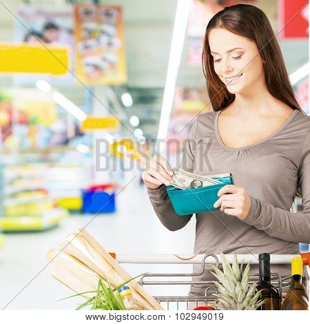 Supermarket shopping.