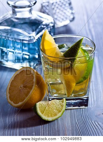 Gin With Lemon And Lime
