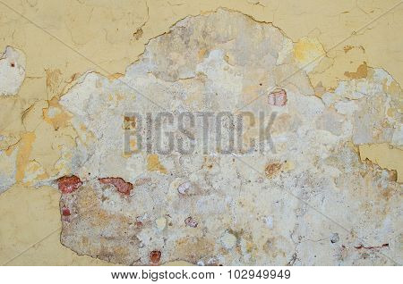Background Of  Old Cement Plaster Wall