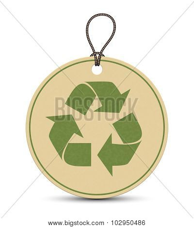 Paper Recycle Tags Isolated On White Background