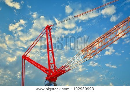 Heavy Mobile Crane Lifting Large Object.