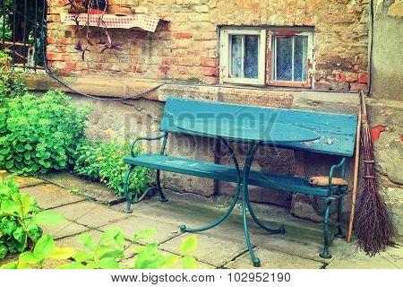 Blue Bench, Vintage Look
