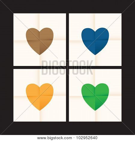 love heart paper background