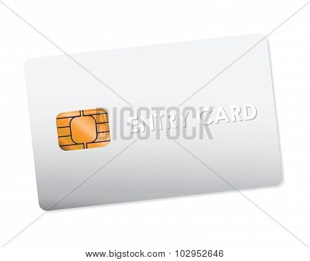 white entry card