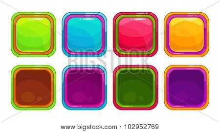 Fancy vector colorful bright buttons
