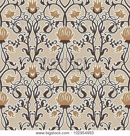 vintage flowers vector pattern