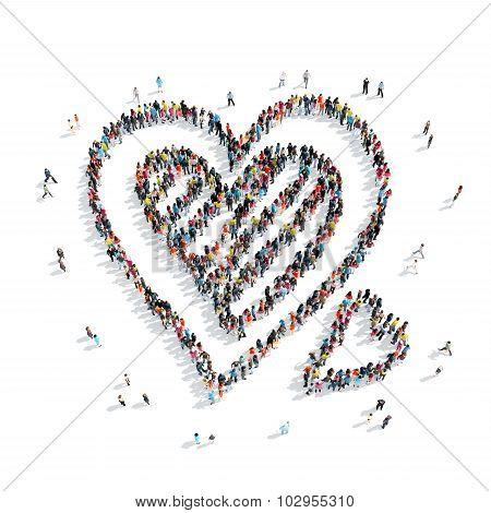 group  people  shape  heart sweet