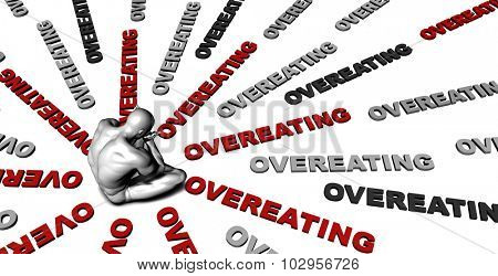 Suffering From Overeating with a Victim Crying Male