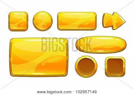 Cartoon golden game assets