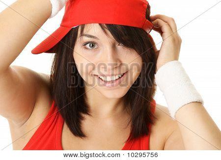 Portrait of a Hip-Hop Dancer wearing Red Cap.