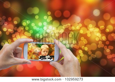 Christmas Concept On Blurred Background