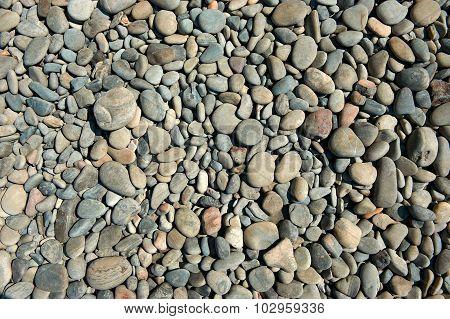 Round Sea Stones Rackground.