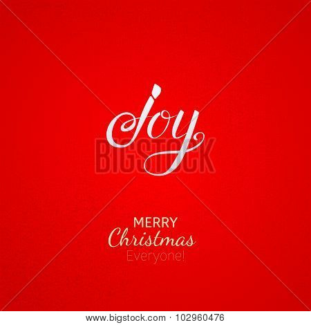 Joy Christmas Greeting Card With Lettering
