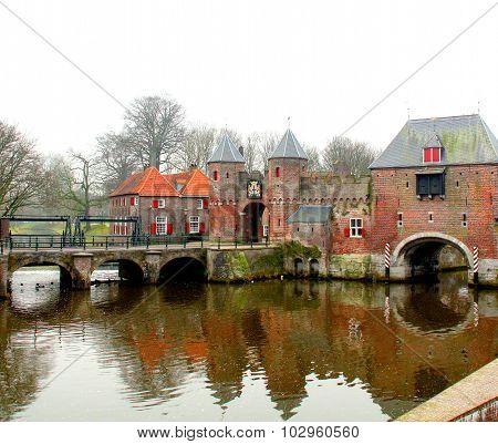 Koppelpoort in Amersfoort. Netherlands